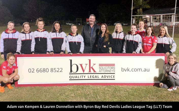 Byron Bay Red Devils Ladies League Tag